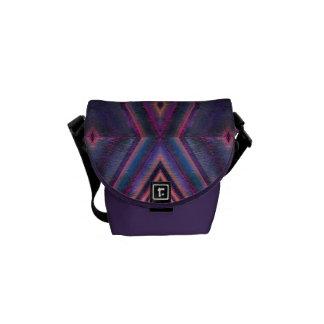 Bolsa Messenger modelo rosado púrpura de la teja