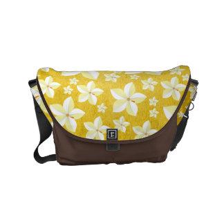 Bolsa Messenger Oro rústico con la bolsa de mensajero floral