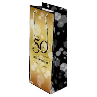 Bolsa Para Vino 50.o aniversario de boda de oro elegante