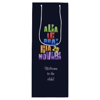Bolsa Para Vino Alfabeto fonético de Albin 25