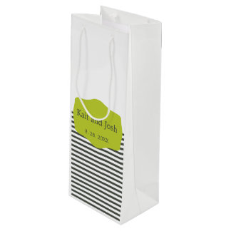 Bolsa Para Vino Boda minimalista elegante del verde caliente del