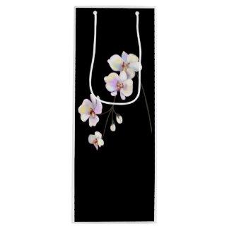 Bolsa Para Vino Bolso blanco y negro del vino de la orquídea con