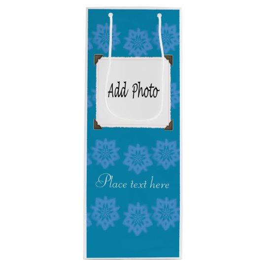 Bolsa Para Vino bolso del regalo de la foto del copo de nieve