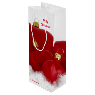 Bolsa Para Vino Bolso del vino del regalo con los corazones rojos