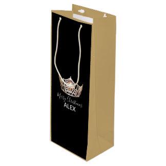 Bolsa Para Vino Bolso-Navidad de seda del regalo de la corona del