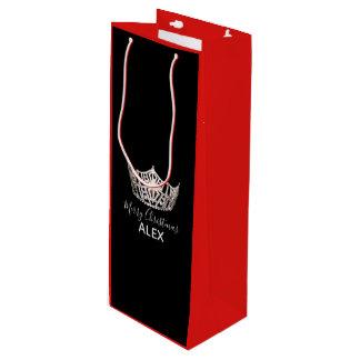 Bolsa Para Vino Bolso-Navidad rojo del regalo de la corona de