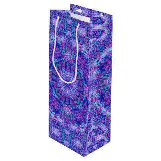 Bolsa Para Vino Bolsos púrpuras y azules del vino   del