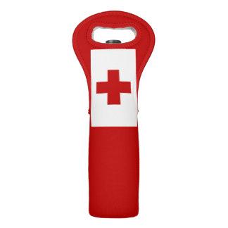 Bolsa Para Vino Cruz Roja de la bandera de la isla de Tonga