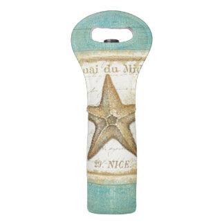 Bolsa Para Vino Estrellas de mar en la madera del trullo