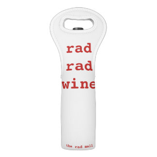 "Bolsa Para Vino La alameda ""tote del Rad del vino del vino del Rad"
