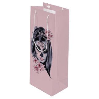 Bolsa Para Vino Máscara del esqueleto de la mujer