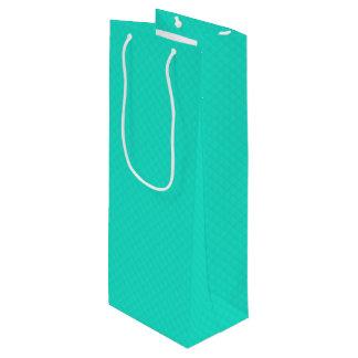 Bolsa Para Vino Modelo acolchado azul de la aguamarina de Tiffany