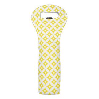 Bolsa Para Vino Modelo de lunares amarillo y blanco moderno del