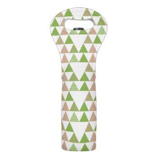 Bolsa Para Vino Mosaico geométrico del árbol de la col rizada del
