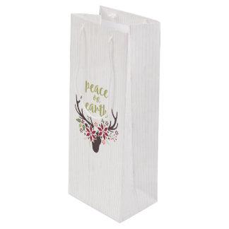 Bolsa Para Vino Paz en bolso del regalo del vino de la tierra