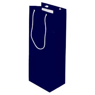 Bolsa Para Vino Personalizar del color sólido de los azules