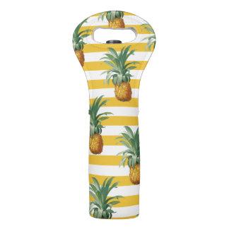 Bolsa Para Vino rayas amarillas de los pinepples