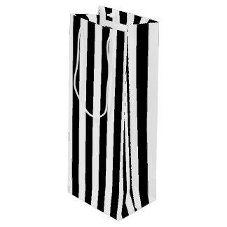 Bolsa Para Vino Rayas blancos y negros verticales