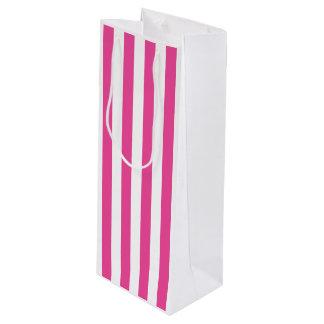 Bolsa Para Vino Rayas verticales rosadas
