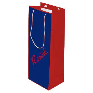 Bolsa Para Vino Resista la resistencia roja y azul