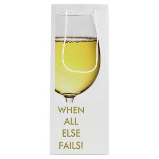 Bolsa Para Vino Vino blanco de restauración con el texto adaptable