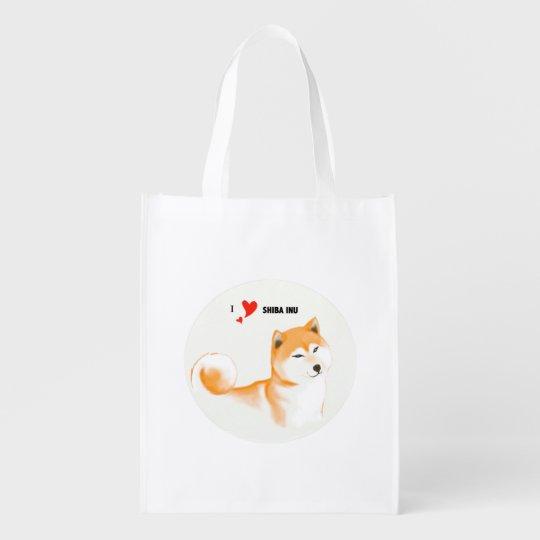 Bolsa reutilizable Shiba inu