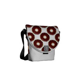 Bolsas De Mensajeria 1 diseño del buñuelo del chocolate del dibujo