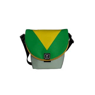 Bolsas De Mensajería Bandera nacional del Brasil, color exacto de la