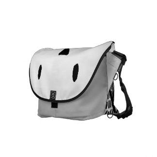 Bolsas De Mensajería Bolso elegante de Couriar del búho de Black&White