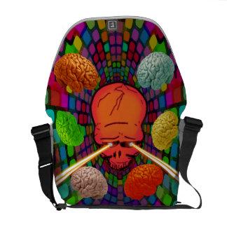 Bolsas De Mensajería Cráneo psicodélico