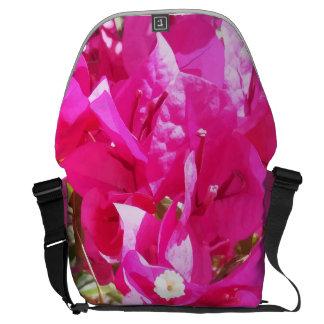 Bolsas De Mensajeria Impresión rosada linda de las plantas del
