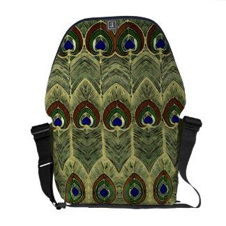 Bolsas De Mensajería La bolsa de mensajero del pavo real