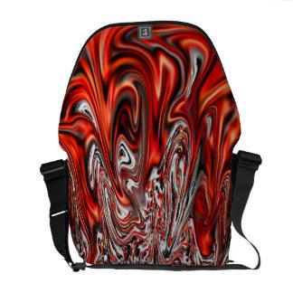 Bolsas De Mensajeria La bolsa de mensajero roja del viajero del viaje