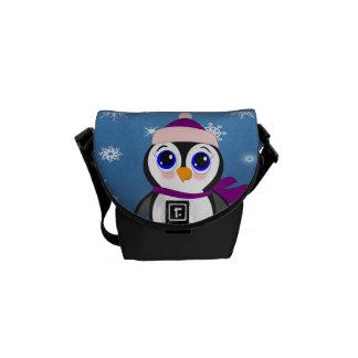 Bolsas De Mensajería Pingüino con el gorra