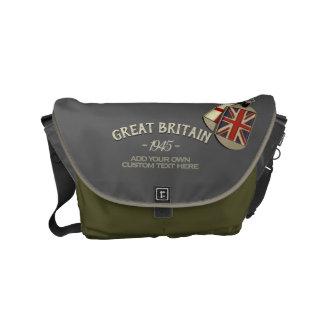 Bolsas De Mensajería Placas de identificación patrióticas de Británicos