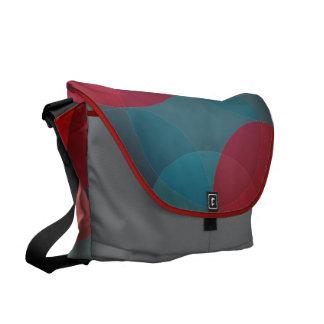 Bolsas Messenger Círculos geométricos modernos la bolsa de