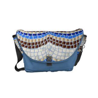 Bolsas Messenger La pequeña bolsa de mensajero del mosaico azul