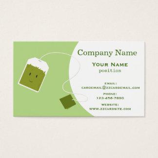 Bolsita de té verde tarjeta de negocios