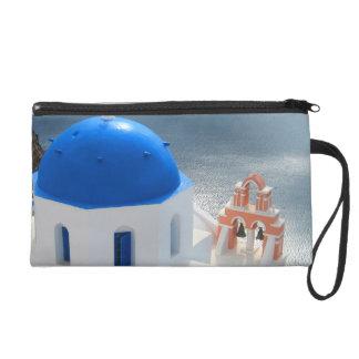 Bolsito De Fiesta Iglesia de Santorini por la tarde Sun