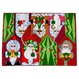 Bolso adorable del regalo del navidad de Santa Bolsa De Regalo Grande