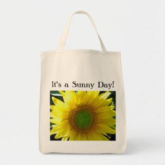 Bolso amarillo del girasol del día soleado