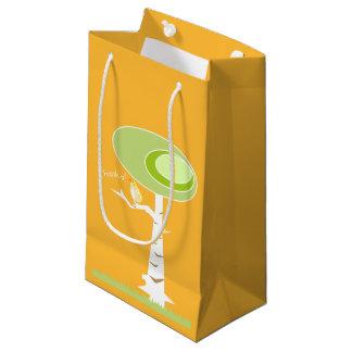 Bolso anaranjado del regalo de la naturaleza bolsa de regalo pequeña