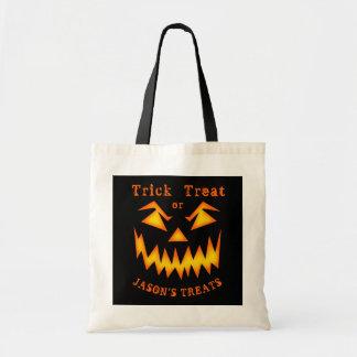 Bolso De Tela Bolso asustadizo personalizado de Halloween de la