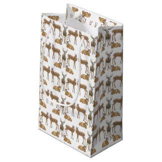Bolso atado blanco del regalo de la familia de los bolsa de regalo pequeña