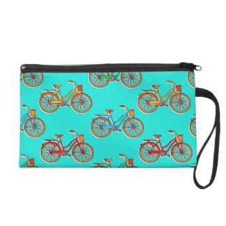 Bolso azul claro de la muñeca de la bicicleta