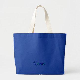 Bolso azul de la lona de Karen Bolsa De Mano