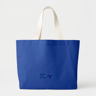 Bolso azul de la lona de Karen Bolsa Tela Grande