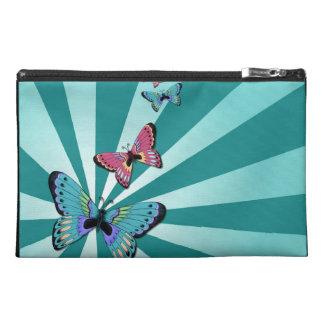 Bolso azul de las mariposas del resplandor solar
