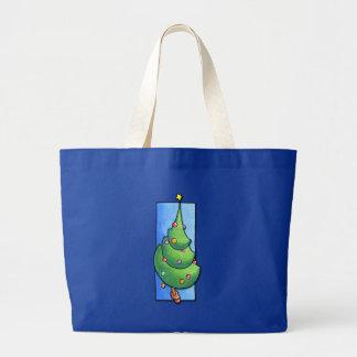 Bolso azul del árbol de navidad bolsa