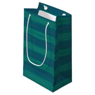 bolso azul del regalo de las ondas verdes bolsa de regalo pequeña